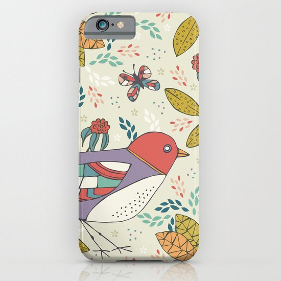 Bird and Butterfly  iPhone & iPod Case