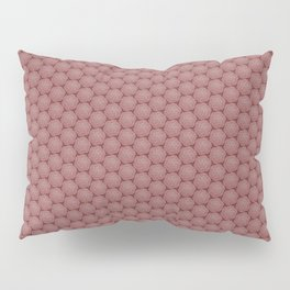 Floral Hexagons in Red Pillow Sham
