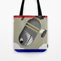 propaganda Tote Bags featuring Propaganda Poster by AWOwens