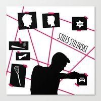 stiles stilinski Canvas Prints featuring Stiles Stilinski by smartypants