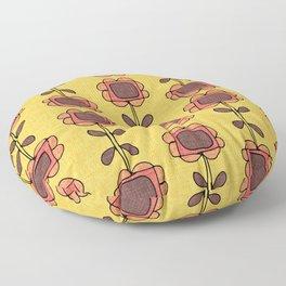 Mod Sunflower Yellow Floor Pillow