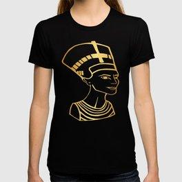 Golden Egyptian Queen Nefertiti T-shirt
