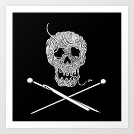 For knitters! Art Print