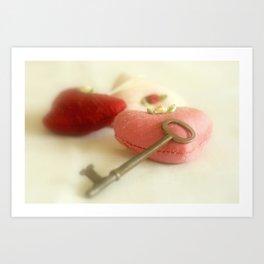 Key to My Heart Art Print