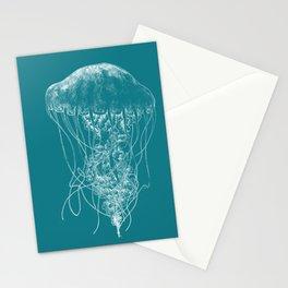 Jellyfish (blue) Stationery Cards