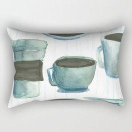 coffees watercolor Rectangular Pillow