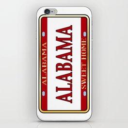 Alabama State Name License Plate iPhone Skin