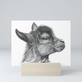 Goat baby G099 Mini Art Print