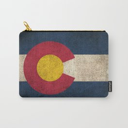 Old and Worn Distressed Vintage Flag of Colorado Carry-All Pouch