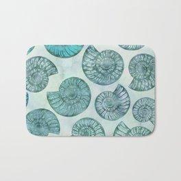 Shimmering Underwater Shell Scenery Aqua Colors Bath Mat