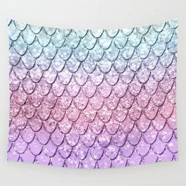 Mermaid Scales on Unicorn Girls Glitter #4 #shiny #pastel #decor #art #society6 Wall Tapestry