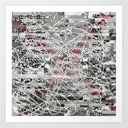 A Virtual Two By Four (P/D3 Glitch Collage Studies) Art Print