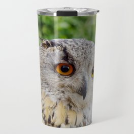 Eagle Owl with glowing eyes Travel Mug