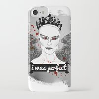 black swan iPhone & iPod Cases featuring Black Swan by raeuberstochter