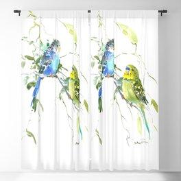Parakeets, budgies pet bird home decor Blackout Curtain