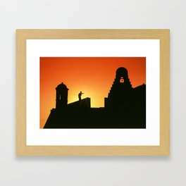 Fortress of San Felipe in Cartagena de Indias Framed Art Print