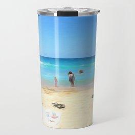 Day At The Beach Looking At The Water Travel Mug