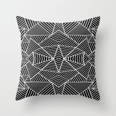 Ab Zoom Mirror Black Throw Pillow