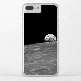 Earthrise Original Photo Clear iPhone Case