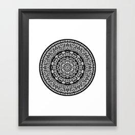 Egyptian Inspired Mandala Framed Art Print