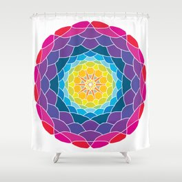 floral ornament. circular pattern Shower Curtain
