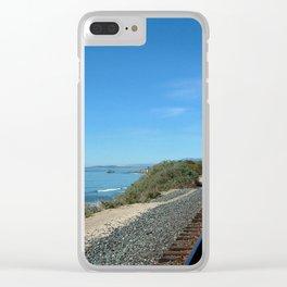 Costal Train Tracks Clear iPhone Case