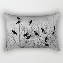 Murder Of Crows - Three Rectangular Pillow