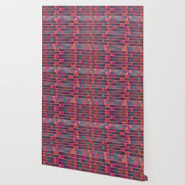 """Full Color Squares Pattern"" Wallpaper"