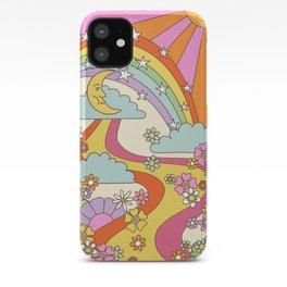 retro hippie boho print  iPhone Case