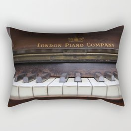 Piano keys Old antique vintage music instrument Rectangular Pillow