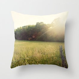 Morning in Cades Cove Throw Pillow