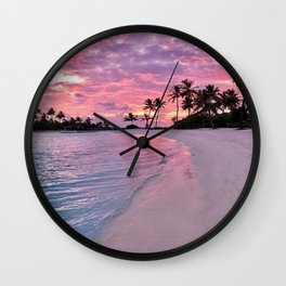 SUNSET AND PALM TREES Wall Clock