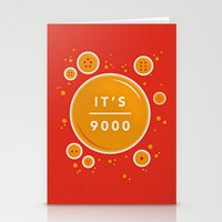 dragonball Stationery Cards featuring IT'S OVER 9000 (Dragonball) by Jacob Waites