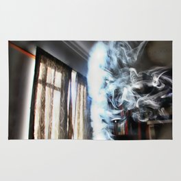 Painting with Smoke - Running Lady Rug