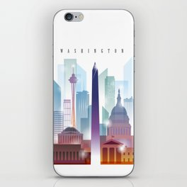 City of skyline, Washington DC, United States iPhone Skin
