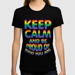 keep calm - Gay Pride T-Shirt T-shirt