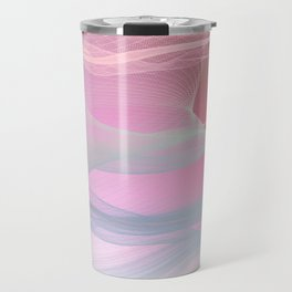 Flow Motion Vibes 1. Pink, Violet and Grey Travel Mug