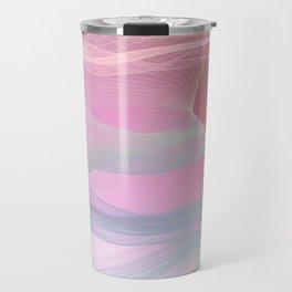 Flow Motion Vibes 1. Pink, Violet and Grey Travel Mug