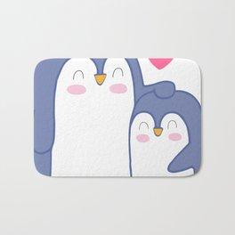 Cute Penguin Love Bath Mat