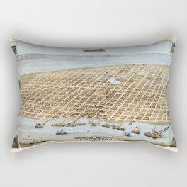 Map Of Galveston 1871 Rectangular Pillow