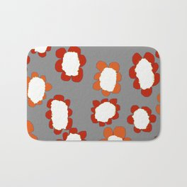 Daisies on Putty pattern Bath Mat
