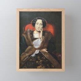Jean-Leon Gerôme - Portrait of a Woman Framed Mini Art Print