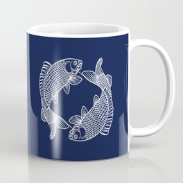 Navy Blue Koi Coffee Mug