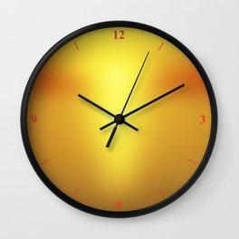Hot Orange Wall Clock