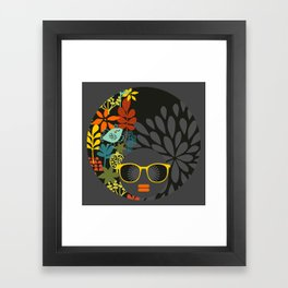 Afro Diva : Sophisticated Lady Gray Framed Art Print