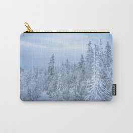 Winter forest in the Mountains Carry-All Pouch