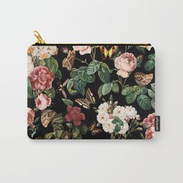 Floral and Butterflies Carry-All Pouch