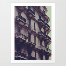 missing balcony Art Print