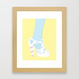 Shoes On Yellow Framed Art Print