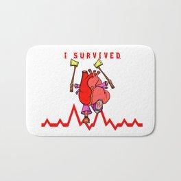 Heart Attack Bath Mat